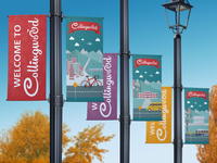 Collingwood street banners for the City of Vancouver