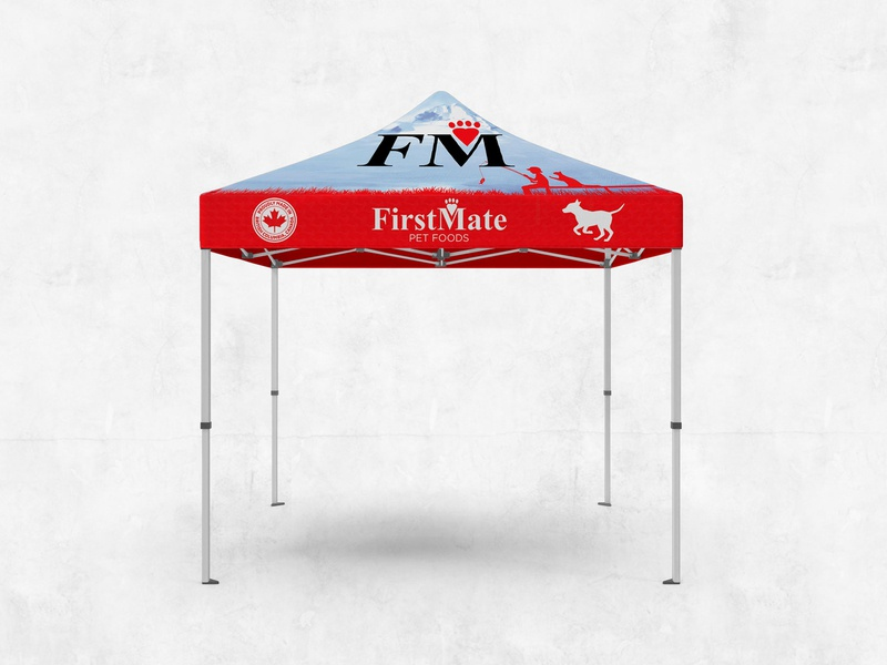 FirstMate Tent design pet petfoods showcase event logo packaging tent graphicdesign