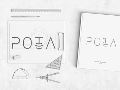 Pota Logo design hand lettering lettering pencil mock up mock-up mockup flat design conceptual modern minimalist black and white icon branding vector gustavo chams graphicdesign typography logo