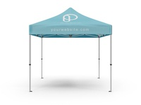FREE SQUARE TENT MOCKUP - EVENT BOOTH 10x10