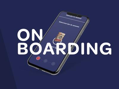 On boarding. App