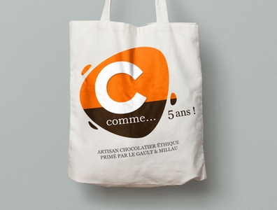 Chocolaterie C Comme - 5 years tote bag gift