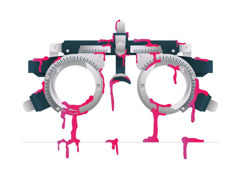 Trial Frame optic icon eye care eye graphic  design optometry frame illustration