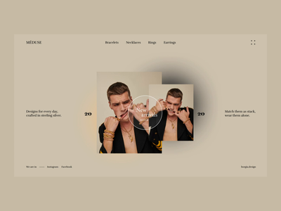 Méduse. Jewelry Boutique art fashion brand brand identity after effects animation ecommerce clean minimal typography ui