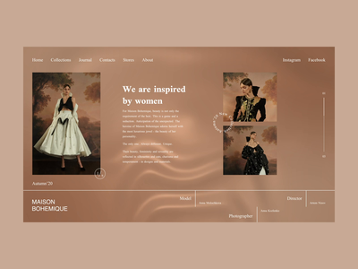 Maison Bohemique fashion brand web branding art ecommerce clean aftereffects after effects animated animation ui typography minimal