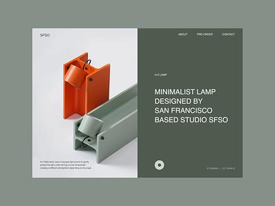 H-beam Lamp ui design design ecommerce web ui typography minimal
