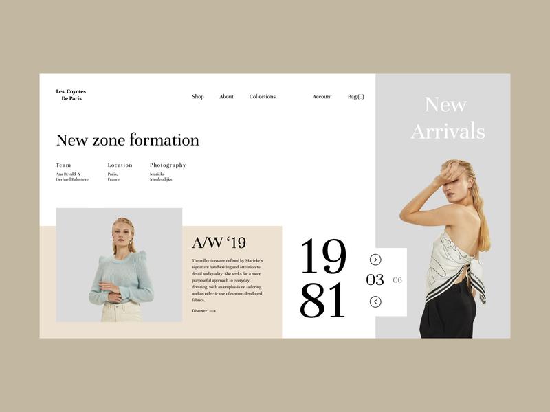 LCDP - Fashion Store interface fashion fashion brand ecommerce design ecommerce website type clean identity brand art ui web branding typography minimal design