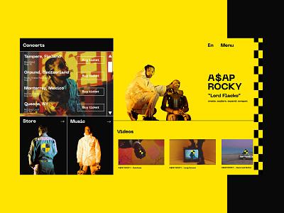 A$AP ROCKY - TESTING typography interface ux fashion brand fashion ecommerce design ecommerce website identity clean brand art web ui design minimal branding