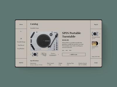 MØNØ. Product page