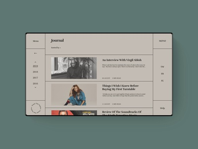 MØNØ. Journal Page