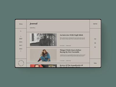 MØNØ. Journal Page music fashion brand ecommerce design ecommence identity website ecommerce ux art ui web typography minimal design branding