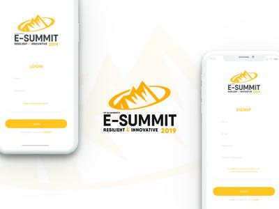 E Summit App design - IIIT Allahabad