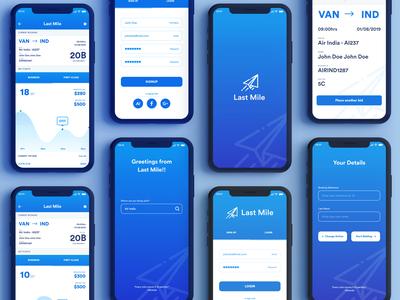Last Mile app design