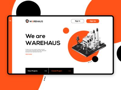 Warehaus Landing Page