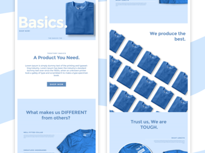 Basics Merch Landing Page