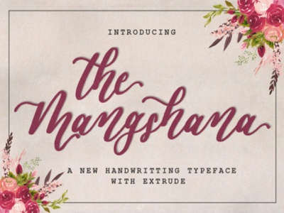 New handwriting typeface