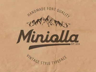 Introduce minolla font script calligraphy