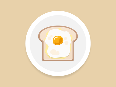 Fried Eggs And Toast For Breakfast 🍳 icon illustration breakfast bread egg toast fried eggs