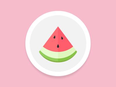 Watermelon For Breakfast 🍉 icon illustration funny fruit breakfast watermelon