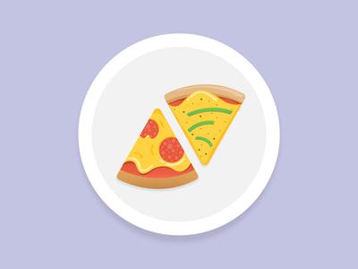 Pizza For Breakfast 🍕 delicious icon tomato illustration breakfast pizza