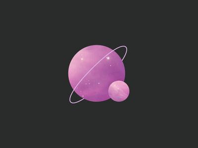 Planet Logo icon galaxy universe nebula star logo planet