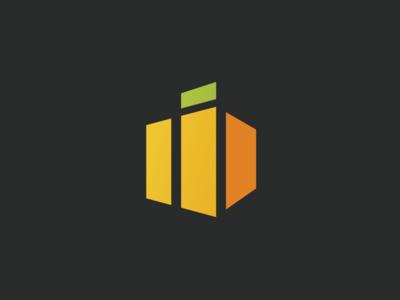Cube Orange Logo icon logo orange cube