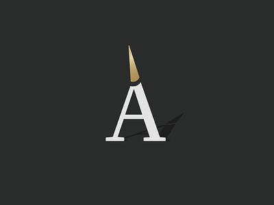 A logo vintage gold icon logo a horn unicorn