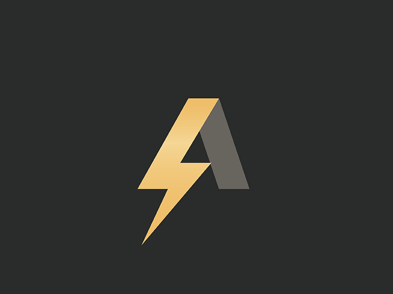 a lightning logo by rose liang dribbble