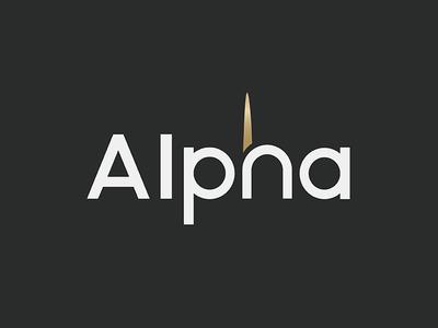 Alpha Logo gold icon logo alpha horn unicorn