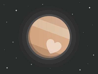 I LOVE PLUTO illustration flat nasa heart love cute planet pluto