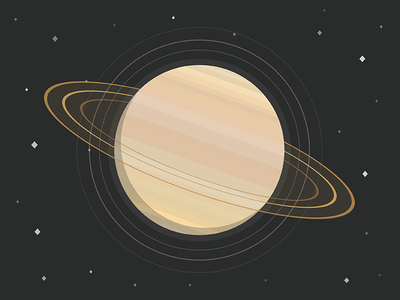 Saturn icon galaxy universe illustration flat nasa planet saturn
