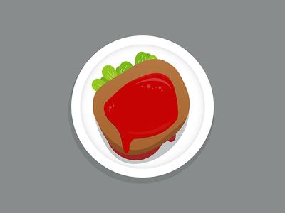 Steak yummy meet illustration dish beef ketchup steak