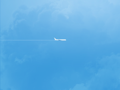 Airplane cloud sky travel plane fly flight airplane illustration