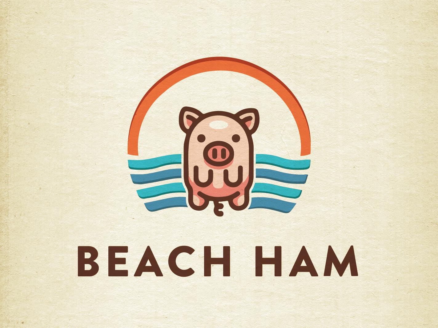 Beach Ham | Logo symbol marks logotype minimal mark symbol creative process logos mark logo verma mohit verma designs mohitvermadesigns mohit verma design mohitvermadesign mohit verma mohitverma mohit designs design