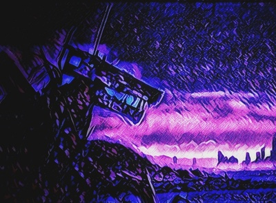 Rising In the East vibrantdark cityscape retrowave photography neonnoir design