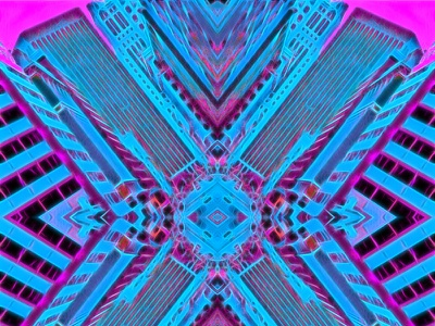 Abstract Patterns from Normal Images sf design neonnoir cityscape land-of-the-free