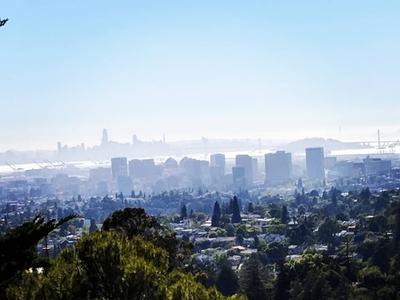 Angela's Oakland vibrantdark retrowave cityscape land-of-the-free neon-noir