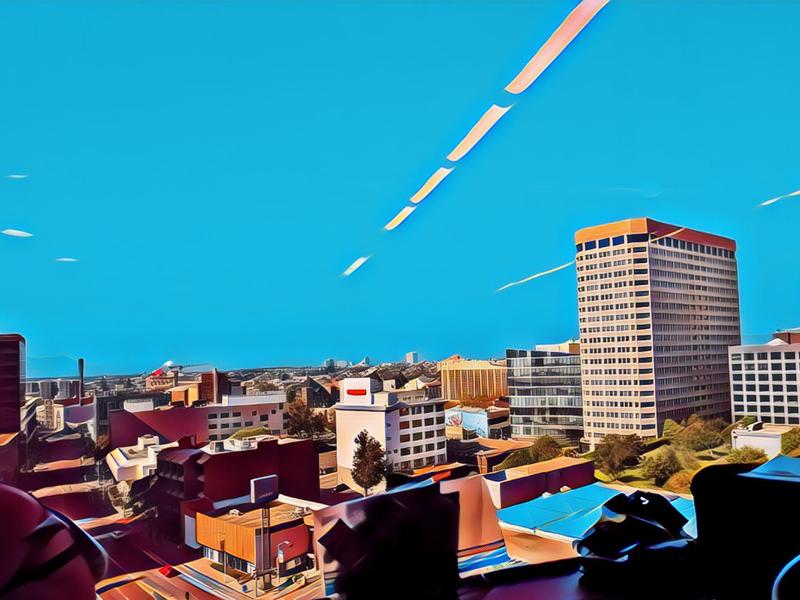 1999 Harrison neonnoir cityscape neonwave design land-of-the-free