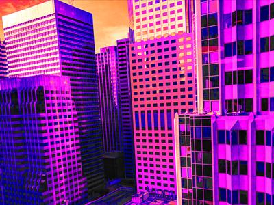 Tengri retrowave neonnoir photography cityscape design