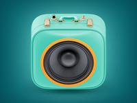 Suitcase Boombox Icon