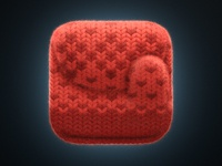 Knitted mitten iOS icon