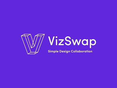 VizSwap Exploration 3d logo branding concept vector saas logo saas branding saas design collaboration project management vizswap v logo v logo branding