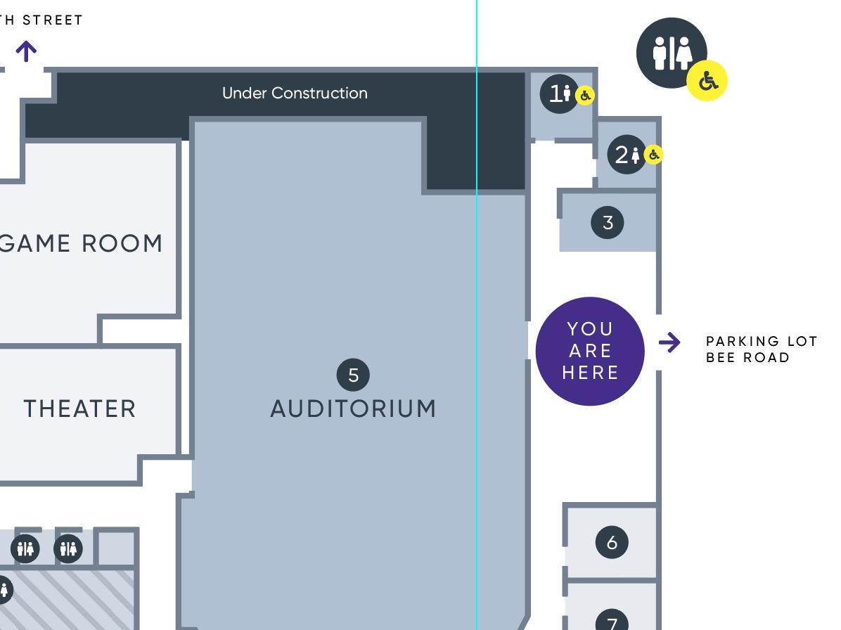 Find Your Way crtvchurch crtv building banner map floorplan wayfinding