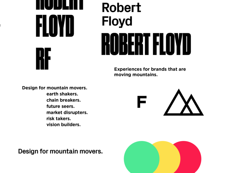 Something New px grotesk gotham druk condensed personal logo portfolio color typography logo