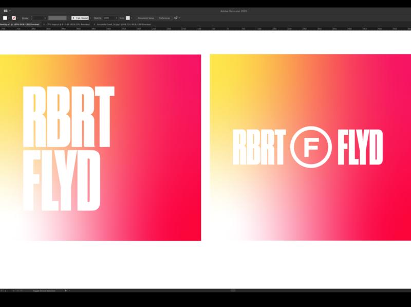 You Dropped a Vowel branding personal logotype typography vowelless yellow red energy gradient gotham druk portfolio personal logo