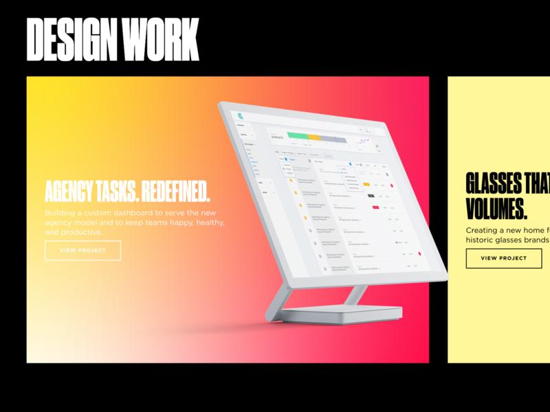 Show Off ux branding ui webflow gradients mockups typography druk condensed druk personal website personal brand portfolio site portfolio