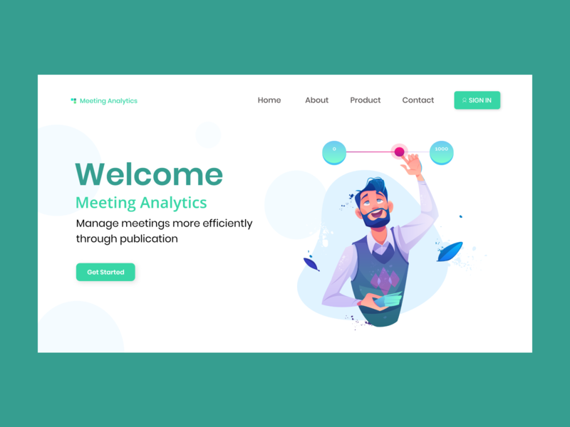 Meeting Analytic Landing Page