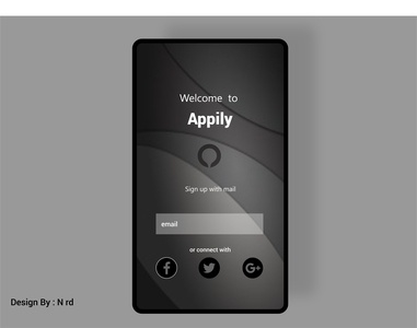 Black Design Mobile App
