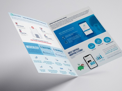 Healthcare Promotional  Infographics A4 Mockup 1