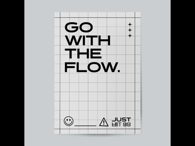 Go With The Flow Motion Poster